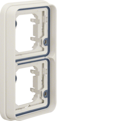 13293512 Frame 2gang vertical for flush-mounted installation with sealing,  Berker W.1, polar white matt