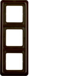 133001 Frame 3gang with sealing,  Splash-protected flush-mounted IP44, brown glossy