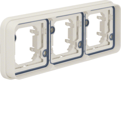 13303502 Frame 3gang horizontal for flush-mounted installation with sealing,  Berker W.1, polar white matt