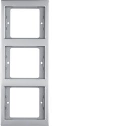 13337004 Frame 3gang vertical Berker K.5, stainless steel,  metal matt finish