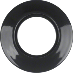 138165 Frame 1gang Serie 1930 Porzellan made by Rosenthal,  porcelain,  black glossy