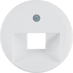 1407 Centre plate for FCC socket outlet polar white glossy