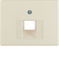 14070002 Centre plate for FCC socket outlet Berker Arsys,  white glossy
