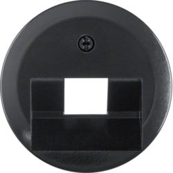 140701 Centre plate for FCC socket outlet black glossy