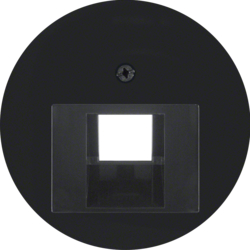14072045 Centre plate for FCC socket outlet black glossy