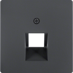 14076086 Centre plate for FCC socket outlet anthracite velvety,  lacquered