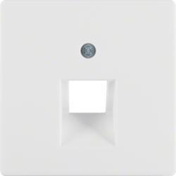 14076089 Centre plate for FCC socket outlet polar white velvety
