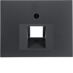 14077006 Centre plate for FCC socket outlet Berker K.1, anthracite matt,  lacquered