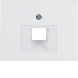 14077009 Centre plate for FCC socket outlet Berker K.1, polar white glossy