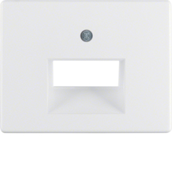 14090069 Centre plate for FCC socket outlet 2gang Berker Arsys,  polar white glossy