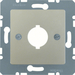 143104 Central plate with installation opening Ø 18.8 mm stainless steel matt,  lacquered