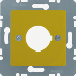 143207 Central plate with installation opening Ø 22.5 mm yellow glossy