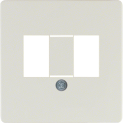 145802 Central plate with TAE cut-out knock out,  white glossy