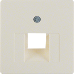 146802 Central plate for FCC socket outlet white glossy