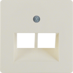 146902 Central plate for FCC socket outlet 2gang white glossy