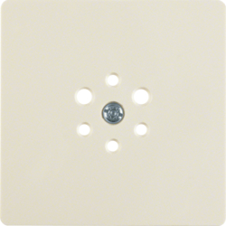 147402 Central plate for 6pole socket outlet white glossy