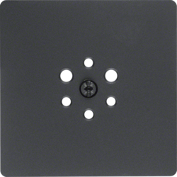 14741606 Central plate for 6pole socket outlet anthracite,  matt