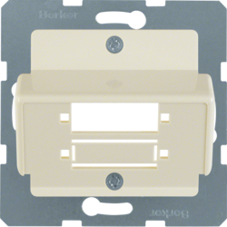 148002 Central plate for fibre-optic couplings Duplex SC white glossy
