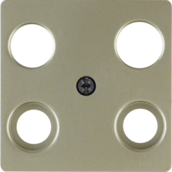 148311 Central plate for aerial socket 4hole (Hirschmann) light bronze matt,  lacquered