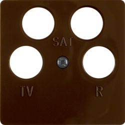 148401 Central plate for aerial socket 4hole (Ankaro) brown glossy
