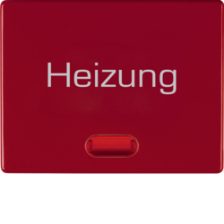 "14880062 Rocker with imprint ""Heizung Notschalter"" red lens,  Berker Arsys,  red glossy"