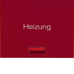"14887115 Rocker with imprint ""Heizung "" red lens,  Berker K.1, red glossy"