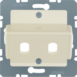 149202 Central plate for fibre-optic couplings Simplex ST white glossy