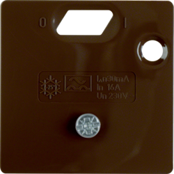 149301 50 x 50 mm centre plate for RCD protection switch System 50 x 50 mm,  brown glossy