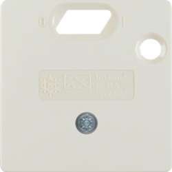 149302 50 x 50 mm centre plate for RCD protection switch System 50 x 50 mm,  white glossy