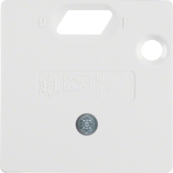 149309 50 x 50 mm centre plate for RCD protection switch System 50 x 50 mm,  polar white glossy