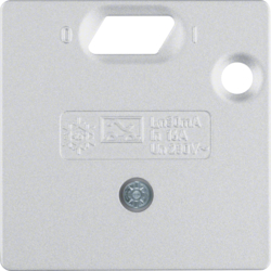 14931404 50 x 50 mm centre plate for RCD protection switch System 50 x 50 mm,  aluminium,  matt,  lacquered
