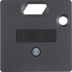 14931606 50 x 50 mm centre plate for RCD protection switch System 50 x 50 mm,  anthracite,  matt