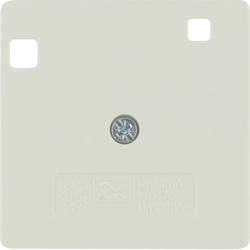 149602 50 x 50 mm centre plate for RCD protection switch System 50 x 50 mm,  polar white glossy