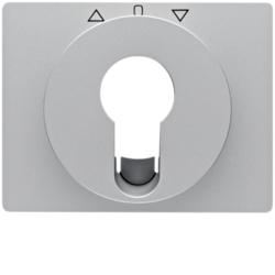 15047103 Centre plate for key push-button for blinds/key switch Berker K.5, aluminium,  matt,  lacquered