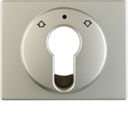 15049014 Centre plate for key push-button for blinds/key switch Berker Arsys,  stainless steel matt,  lacquered