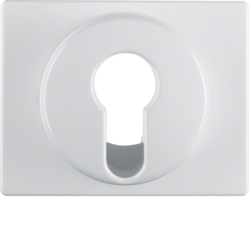 15050079 Centre plate for key switch/key push-button Berker Arsys,  polar white glossy
