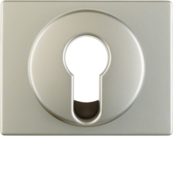 15059014 Centre plate for key switch/key push-button Berker Arsys,  stainless steel matt,  lacquered