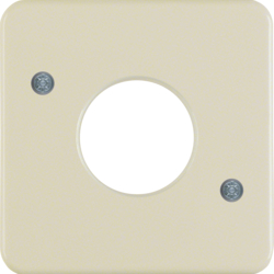 1530 Centre plate for push-button/pilot lamp E10 Splash-protected flush-mounted IP44, white glossy