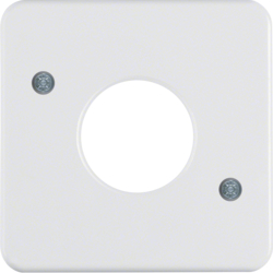 153009 Centre plate for push-button/pilot lamp E10 Splash-protected flush-mounted IP44, polar white glossy