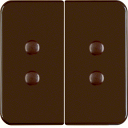 156511 Rocker 2gang Splash-protected flush-mounted IP44, brown glossy