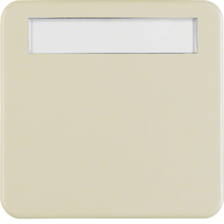 1629 Rocker with labelling field,  Splash-protected flush-mounted IP44, white glossy