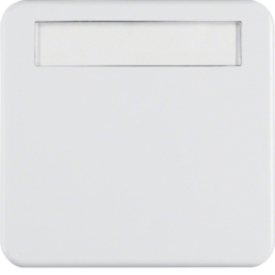 162909 Rocker with labelling field,  Splash-protected flush-mounted IP44, polar white glossy