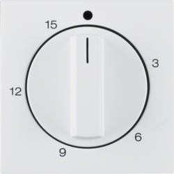 16321909 Centre plate for mechanical timer polar white matt