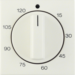 16338982 Centre plate for mechanical timer white glossy