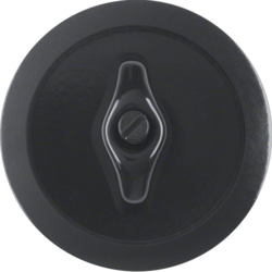 164701 Centre plate with toggle black glossy