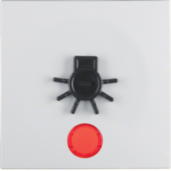16511949 Rocker for accessible construction with tactile symbol for light,  red lens,  polar white matt