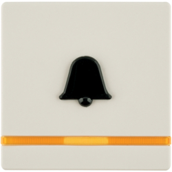 16516052 Rocker for accessible construction with tactile symbol for bell,  with orange lens
