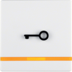 16516069 Rocker for accessible construction with tactile symbol for door,  with orange lens,  polar white velvety