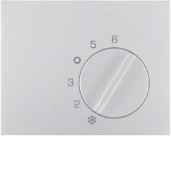 16707103 Centre plate for thermostat with setting knob,  Berker K.5, aluminium,  matt,  lacquered
