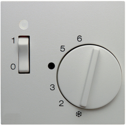 16711909 Centre plate for thermostat pivoted,  Setting knob,  Berker S.1/B.3/B.7, polar white matt